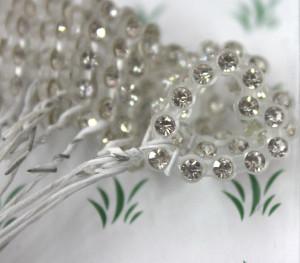 Rhinestone Hearts - Crystal