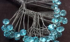 Rhinestone Sprays - Turquoise